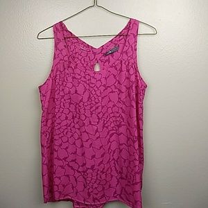 The North Face Pink Criss Cross Back Tank Size L